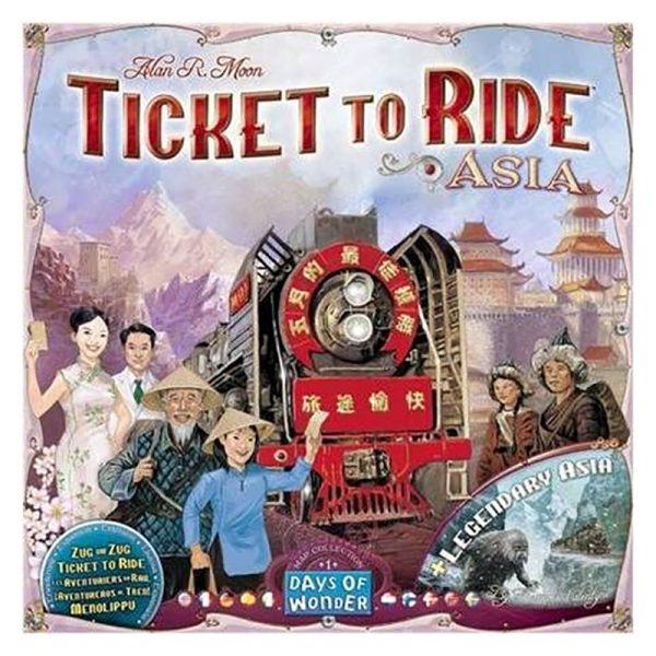 Ticket to Ride Asia, tilleggspakke. Brettspill.