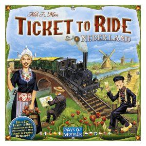 Ticket to Ride Nederland, tilleggspakke. Brettspill.