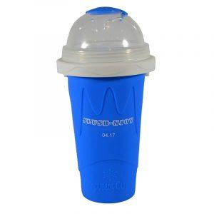 Slush-njoy kopp blå. Lag din egen slush hjemme. Skvis denne silicon koppen med kraftig fryse element og lag nydelig slusj.
