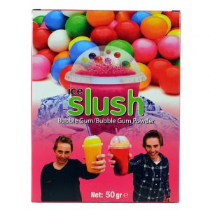 Slush-njoy smak Bubble Gum. Porsjonspose med slush Bubble Gum Powder.