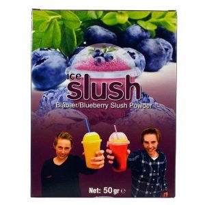 Slush-njoy smak Blåbær. Porsjonspose med slush blueberry.