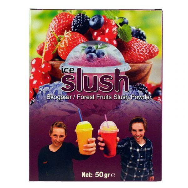 Slush-njoy smak Skogsbær. Porsjonspose med Forest Fruits Slush Powder.