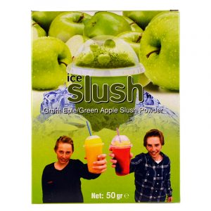 Slush-njoy smak Grønt Eple. Porsjonspose med Green Apple slush powder.