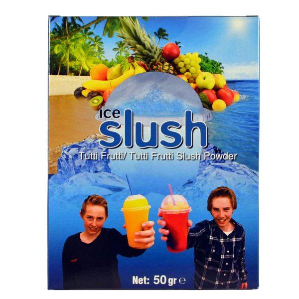 Slush-njoy smak Tutti Frutti. Porsjonspose med Tutti Frutti Slush Powder.