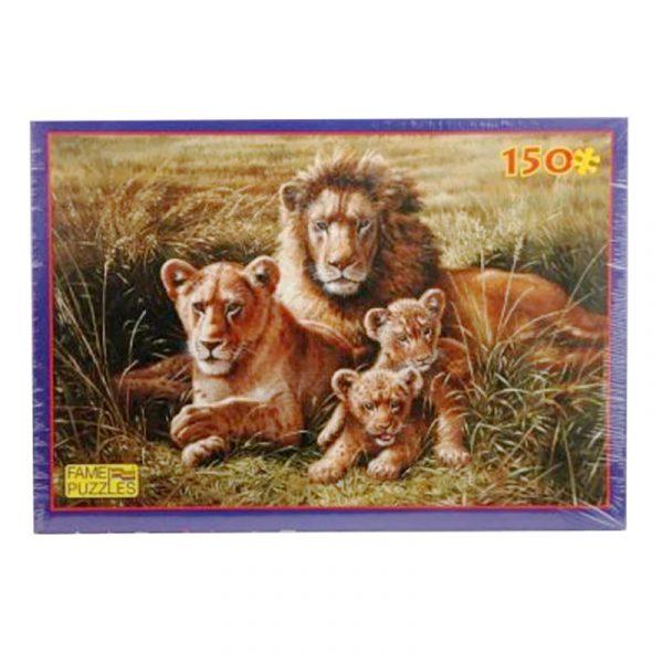 Puslespill løvefamilie, 150 biter. Animals, løve.