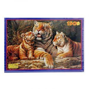 Puslespill tigerfamilie, 150 biter
