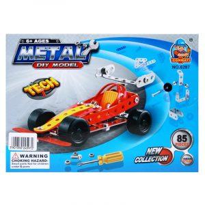 Metallbyggesett racerbil, 85 deler