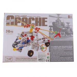 Metallbyggesett Apache helikopter, 240 deler