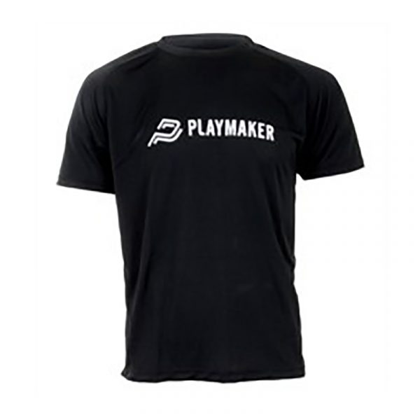 Playmaker t-shirt 100% bomull. Sort t skjorte cotton.
