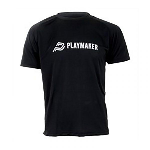 Playmaker t-shirt 100% bomull. Sort t skjorte cotton.