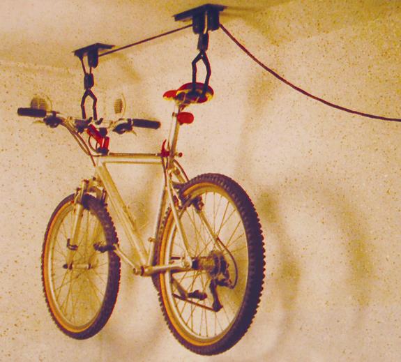Sykkeloppheng for tak. Oppheng for 1 sykkel. Sykkel løfter.