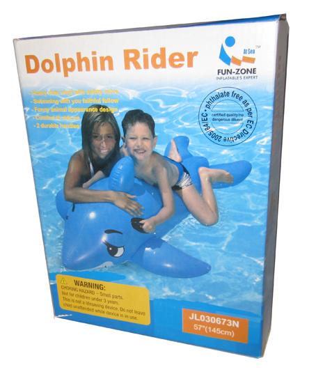 Badeleke Delfin. Morsom vann leke, oppblåsbar. Flyteleke, badedyr.