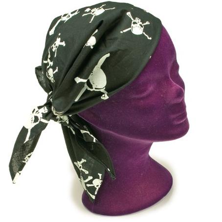 Pirat skjerf, tørkle, pirqatskjerf. Bandana, Pirate skull.
