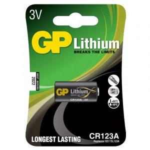 Batteri GP Lithium CR123A, 123, DL123A