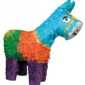 Pinata, hest. Pinãtaen kan fylles med godteri. Til høytid og gebursdager.
