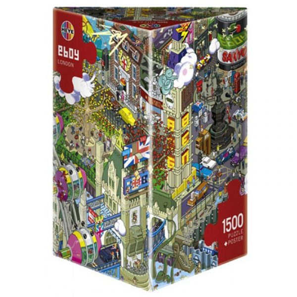 Puslespill E-Boy London 1500 brikker. Pusle spill med 1500 biter.