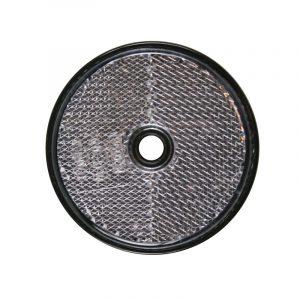 Reflektor, rund, hvit refleks 60mm.