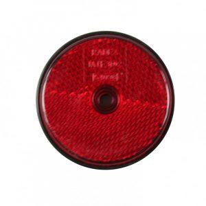 Reflektor, rund, rød refleks 60mm.