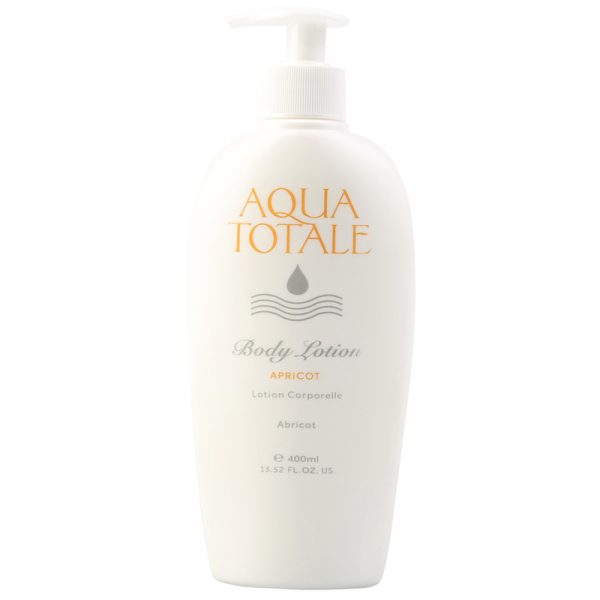 Aqua Totale Body Lotion. Herlig duft av søt aprikos. 400 ml.