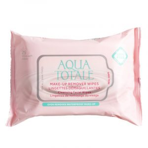 Aqua Totale Make-Up remover wipes. Fjerner makeup.