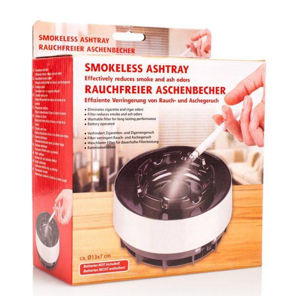 Røykfritt askebeger. Med vifte som forhindrer røyklukt.