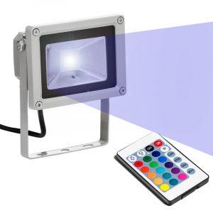 LED Lyskaster RGB med fjernkontroll - 10W.
