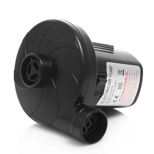 Elektrisk luftpumpe, 12V / 230V. 50W. Kan brukes på de fleste oppblåsbare produkter.