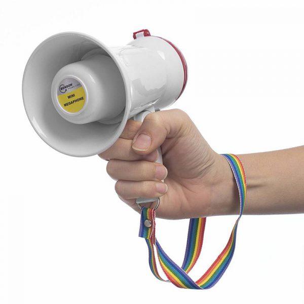 Mini-megafon. Liten og morsom megafon.