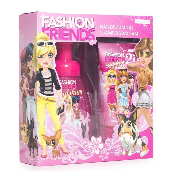 Gavesett Fashion Friends. Med håndskum og sjampo & balsam. Uten Parabener. Tilpasset barn.