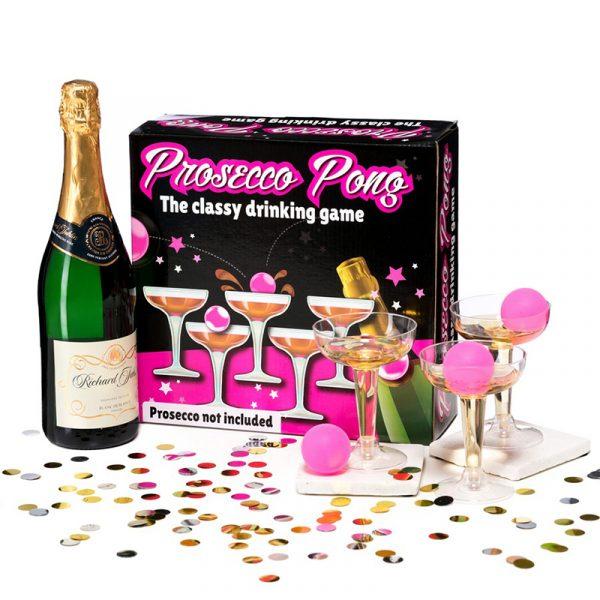 Prosecco pong, spill. Drikkespill. Drikke spillet for voksne.