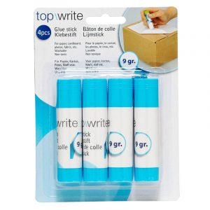 Limstifter, pakke med 4. Praktisk limstift til papir, kartong og foto.