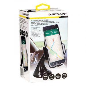 Mobilholder til bil fra Dunlop. Smartphone holder.