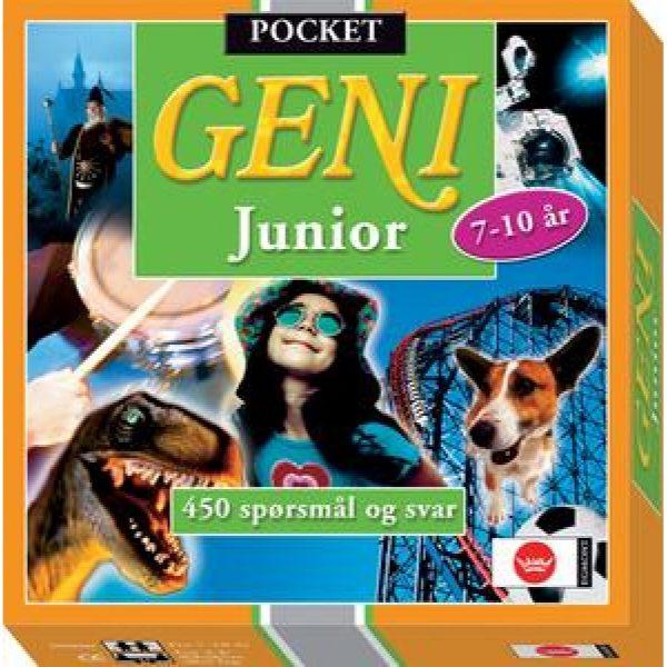 Geni pocket junior. Et reisespill i lommeformat, 450 spørsmål og svar.