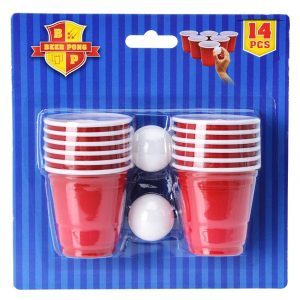 Mini beer pong, spill. Drikkespill.