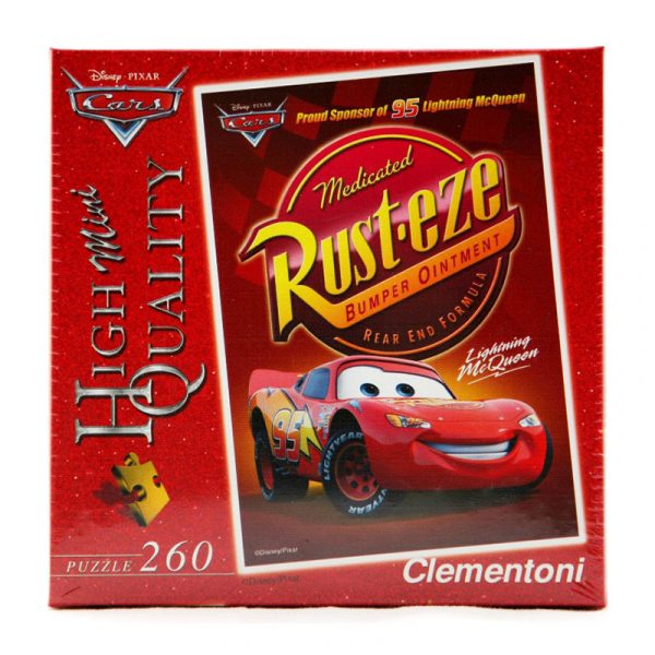 Puslespill Cars, Biler, 260 biter. Puzzle fra Clementoni Lightning Mc Queen. Disney.