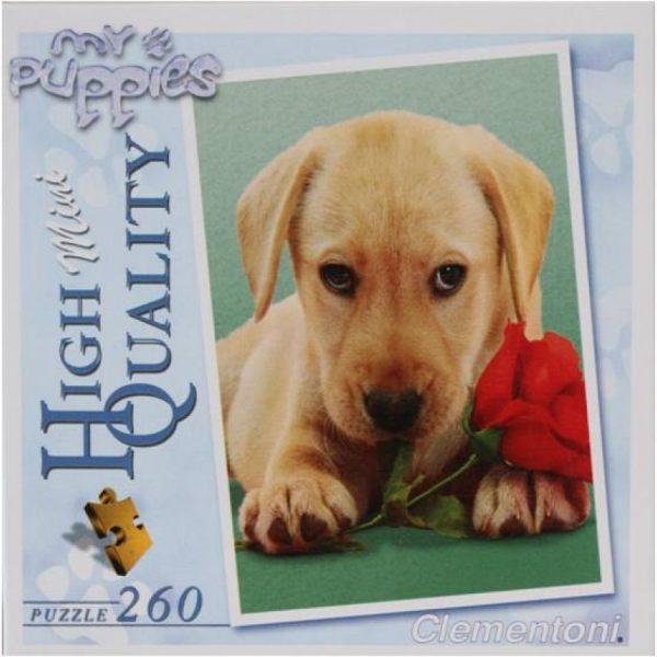 Puslespill hund med rose, my puppies