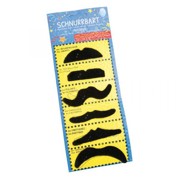 Selvklebende barter. Snurrebart til karneval. Bart, mustache Party.