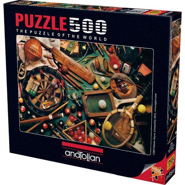 Puslespill klassisk sportsutstyr. 500 biter. Anatolian puzzle.