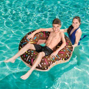 Badering stor brun Donut Ø 107 cm