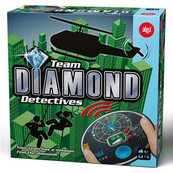 Team Diamond Detectives. Spill, brettspill fra Alga. Finn diamanten.
