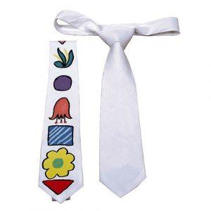 Bomulls slips hvitt, fargelegg selv