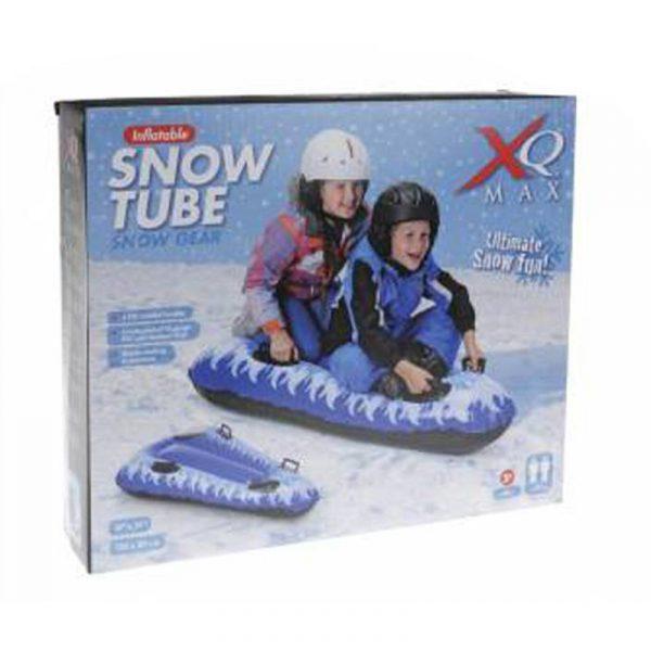 Snø tube, oppblåsbar vinterleke. Oppblåsbart snøbrett
