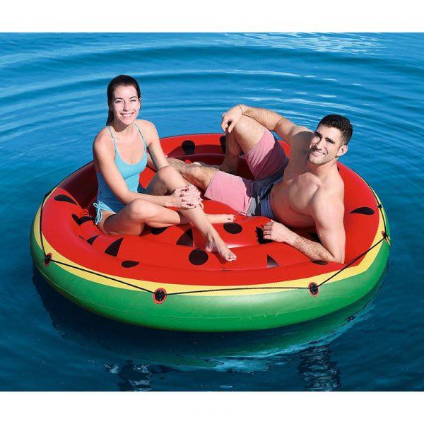 Oppblåsbar vannmelon, stor øy. Bestway.