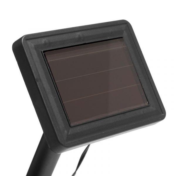 Lyslenke med solcellepanel. LED-lys - 100 stk. Solar, varm hvit. Innendørs og utendørs.