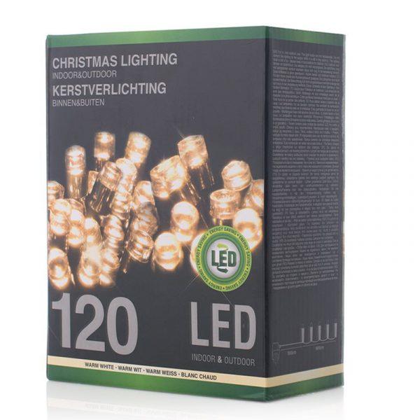 Juletrelys LED, ute & innendørs, 120 lys, Varm hvit Christmas light Lysslynge, lyskjede.