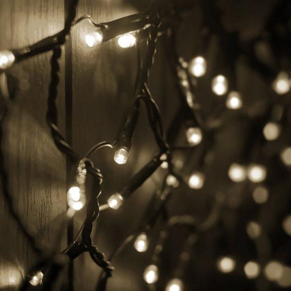 Juletrelys LED, ute & innendørs, 120 lys, Varm hvit Christmas light