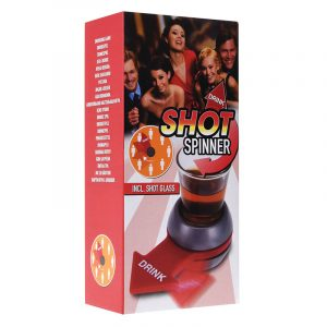 Shot spinner. Spin the shot. Inkludert shot glass. Drikkespill (18 år)