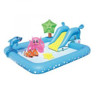 Barnebasseng fra Bestway. Sommermoro for barn. Badebasseng, plaskebasseng, basseng med figurer