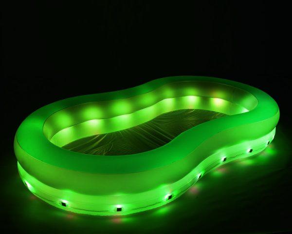 Bestway familiebasseng med LED lys. Familie pool. Farge bølgebasseng.
