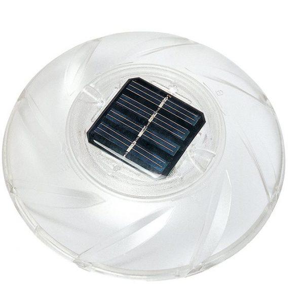 Flytende solcellelampe. Solcelle lampe til basseng. Lampen flyter og skifter farge, med solceller.